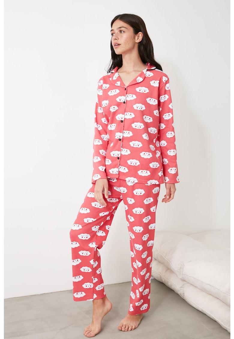 Pijama cu nasturi si nori