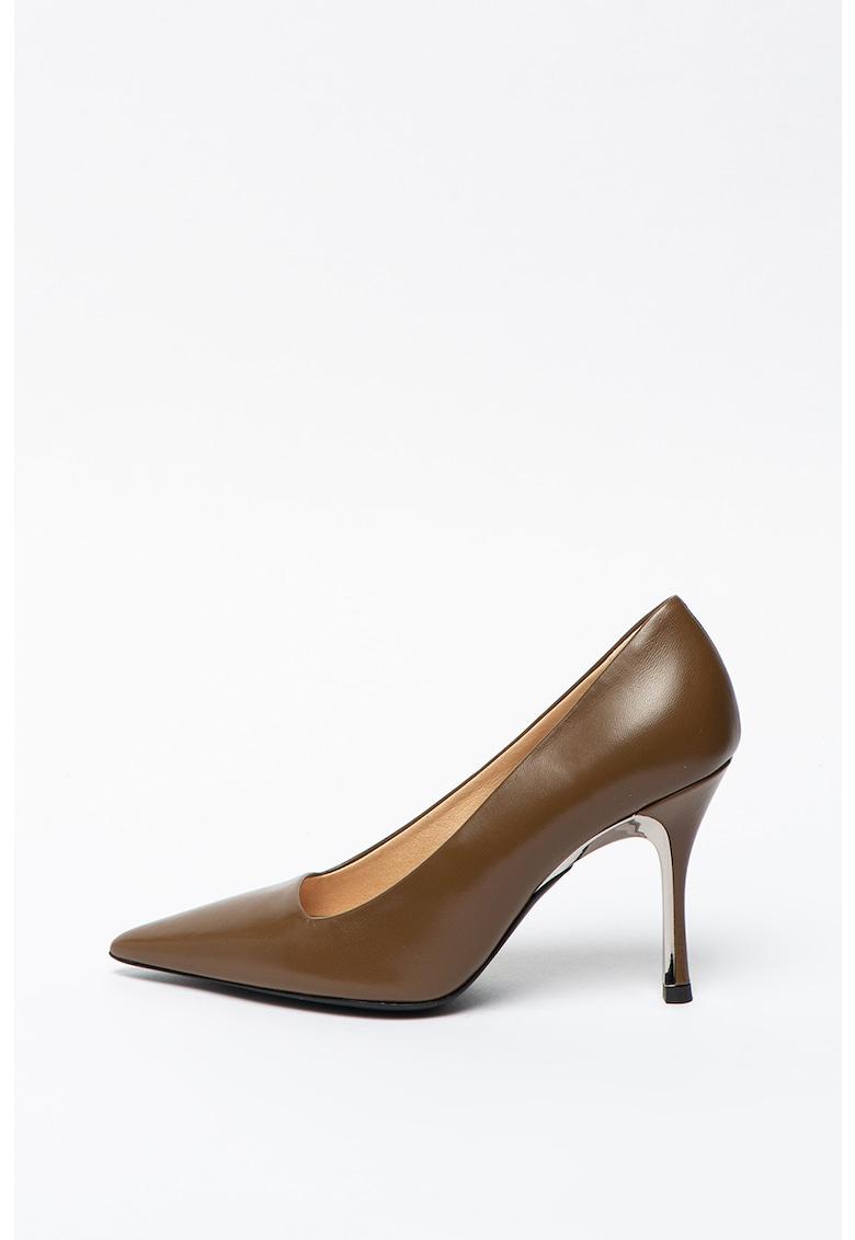 Pantofi de piele cu toc stiletto