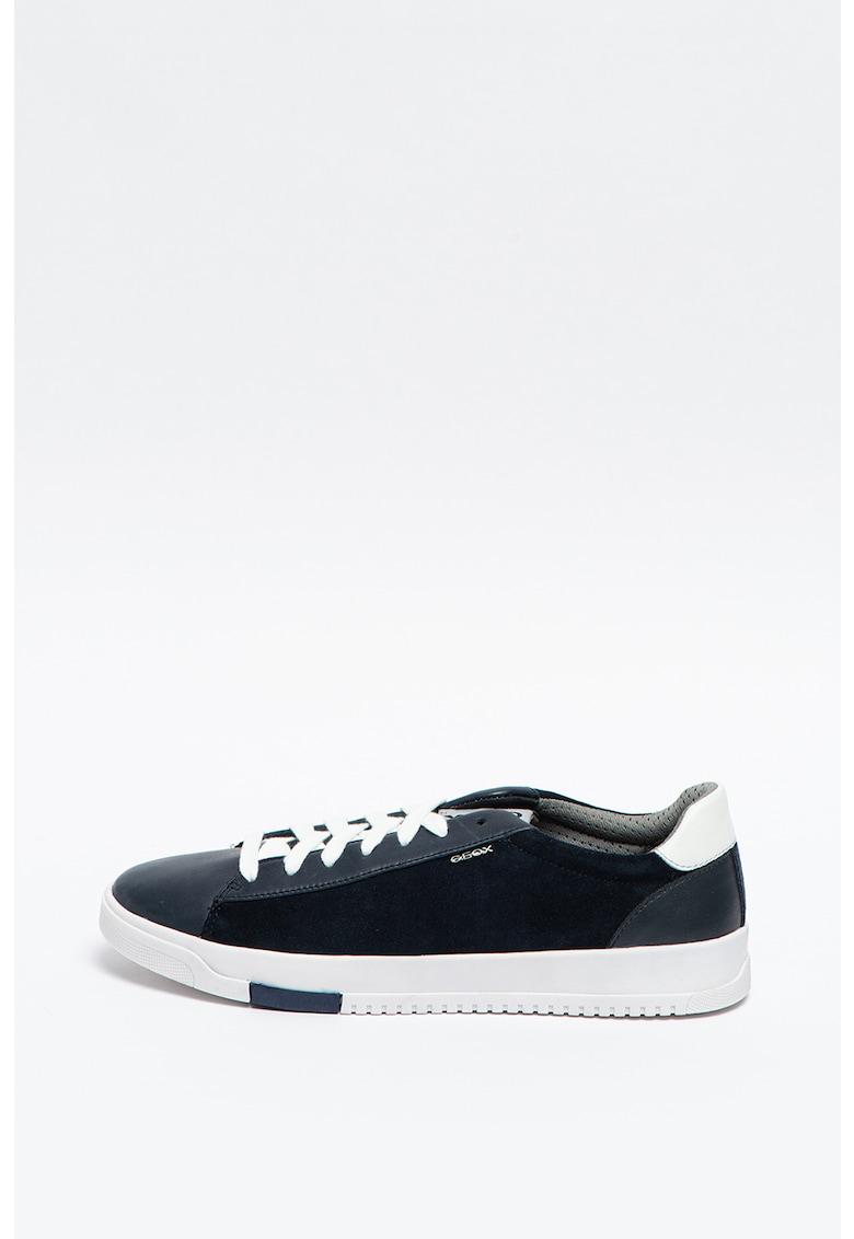 Pantofi sport cu insertii de piele intoarsa Segnale Geox imagine 2021