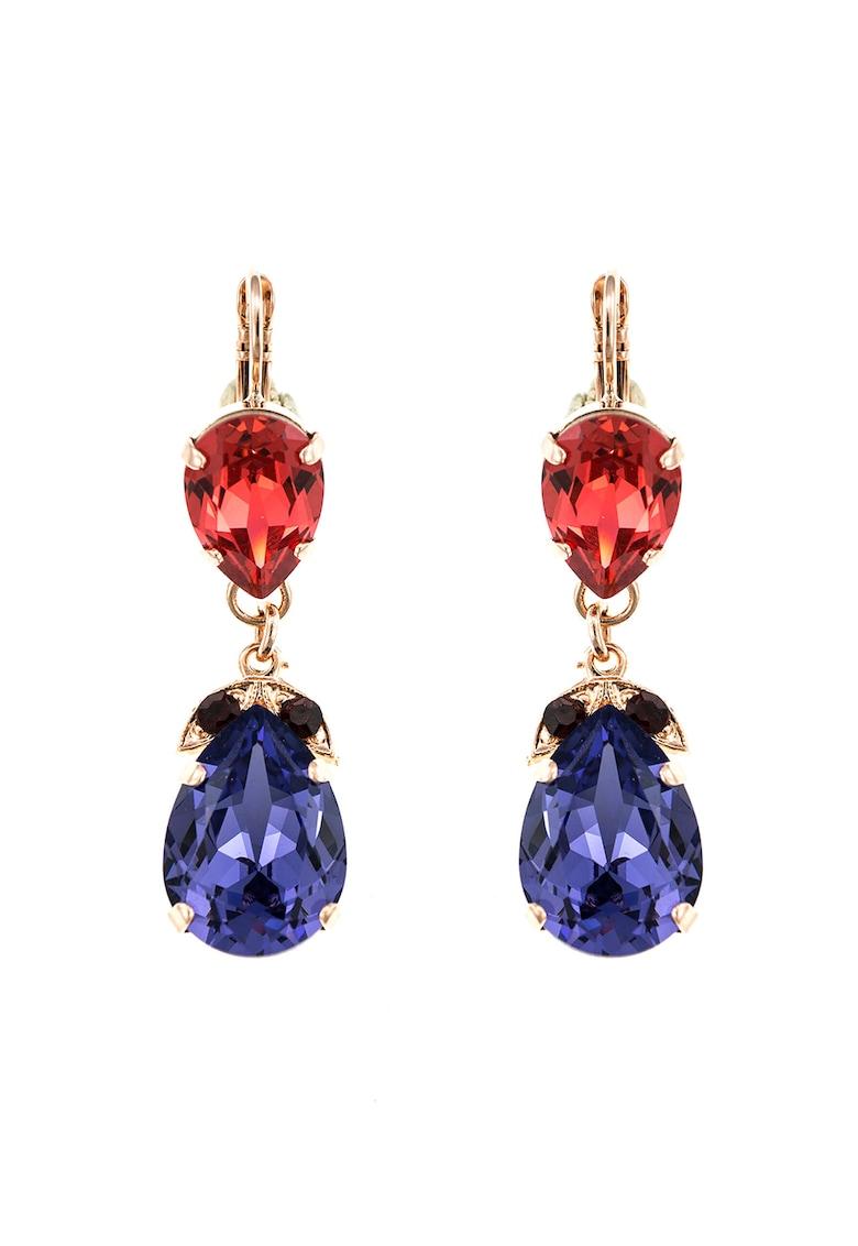 Roxannes - Mariana Jewellery Cercei placati cu aur rose de 24K si decorati cu cristale Swarovski