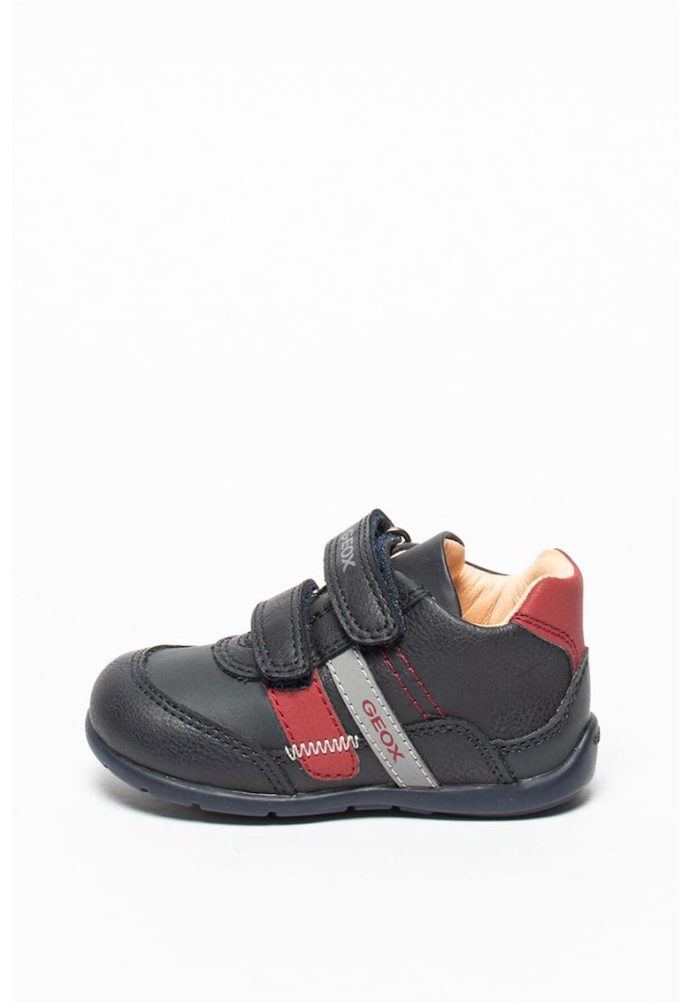 Pantofi sport din piele ecologica cu inchidere velcro imagine