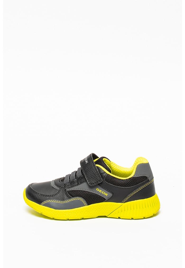 Pantofi sport respirabili cu garnituri din piele ecologica Sveth