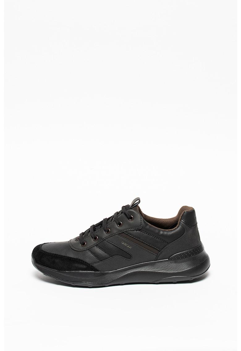 Pantofi sport de piele cu garnituri de piele ecologica Allenio