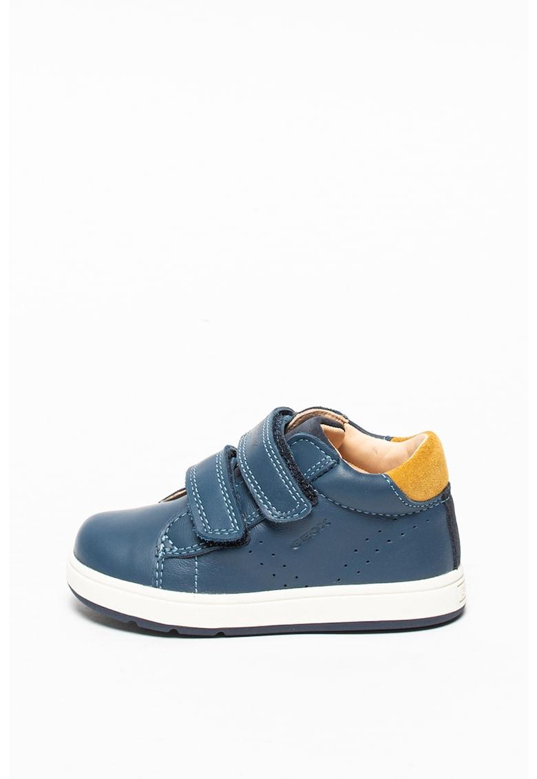 Pantofi low cut de piele cu velcro