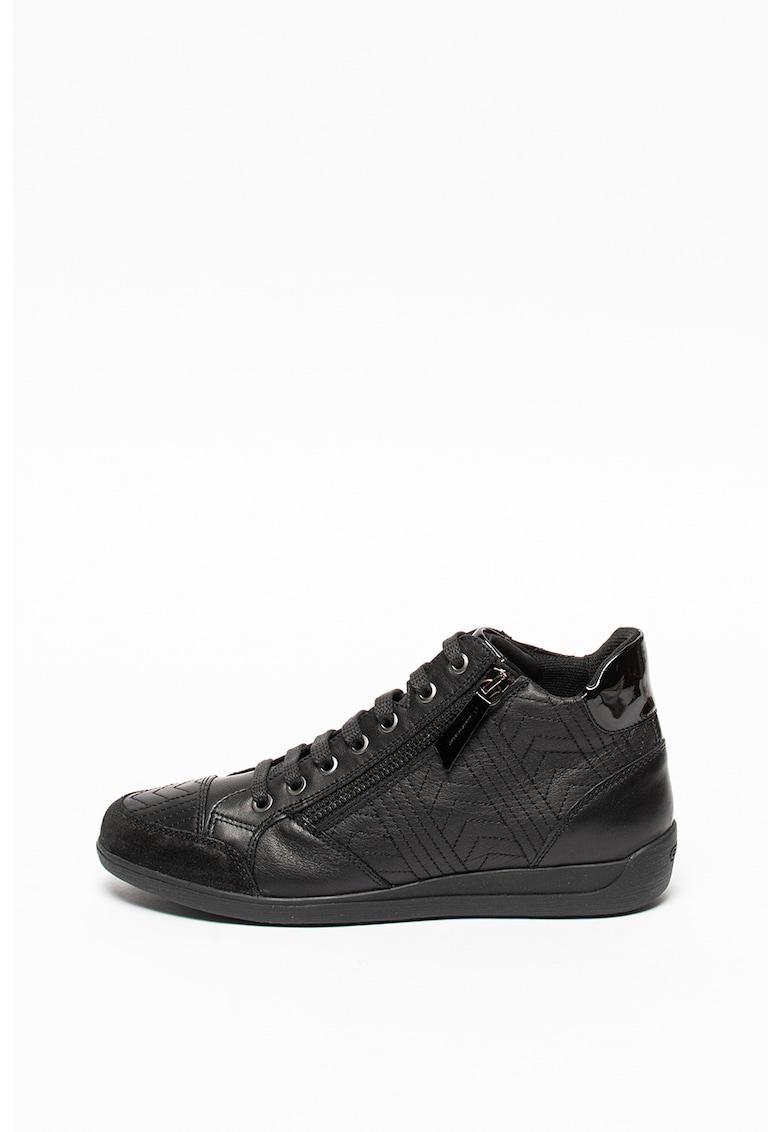 Pantofi sport de piele cu cusaturi decorative Myria