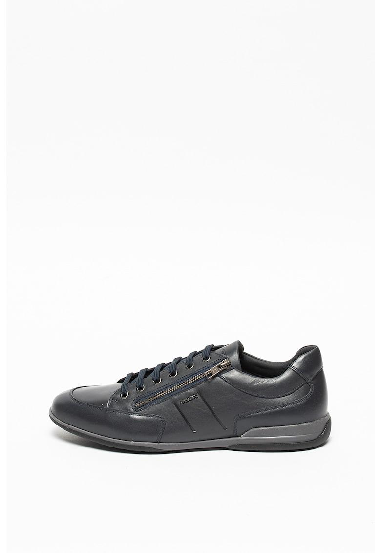 Pantofi sport de piele ecologica cu garnituri de piele Timothy imagine