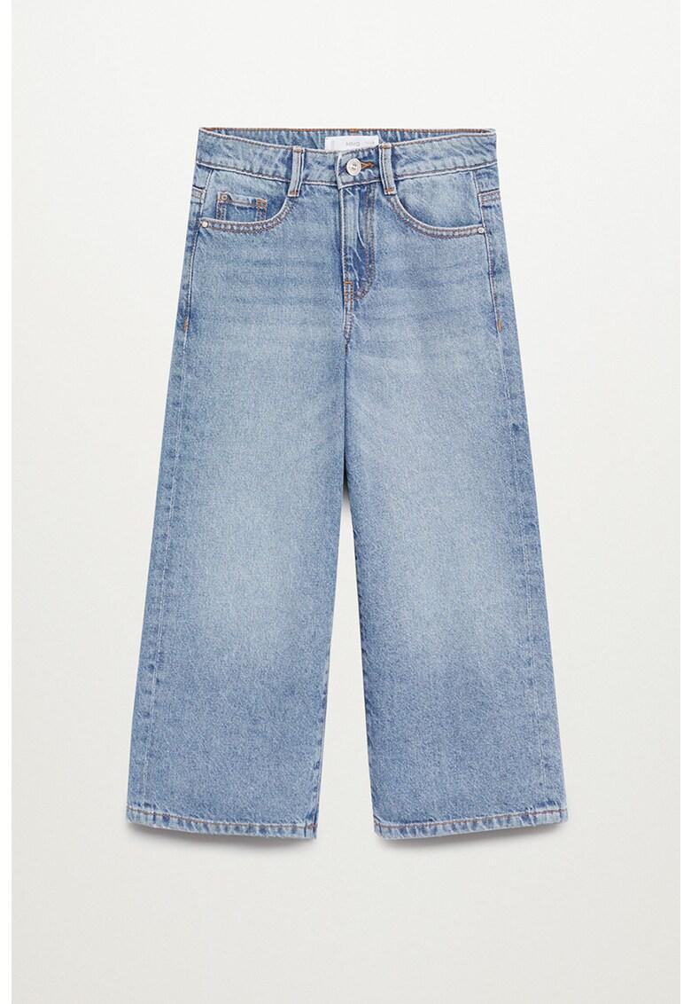 Blugi culotte cu talie inalta imagine fashiondays.ro