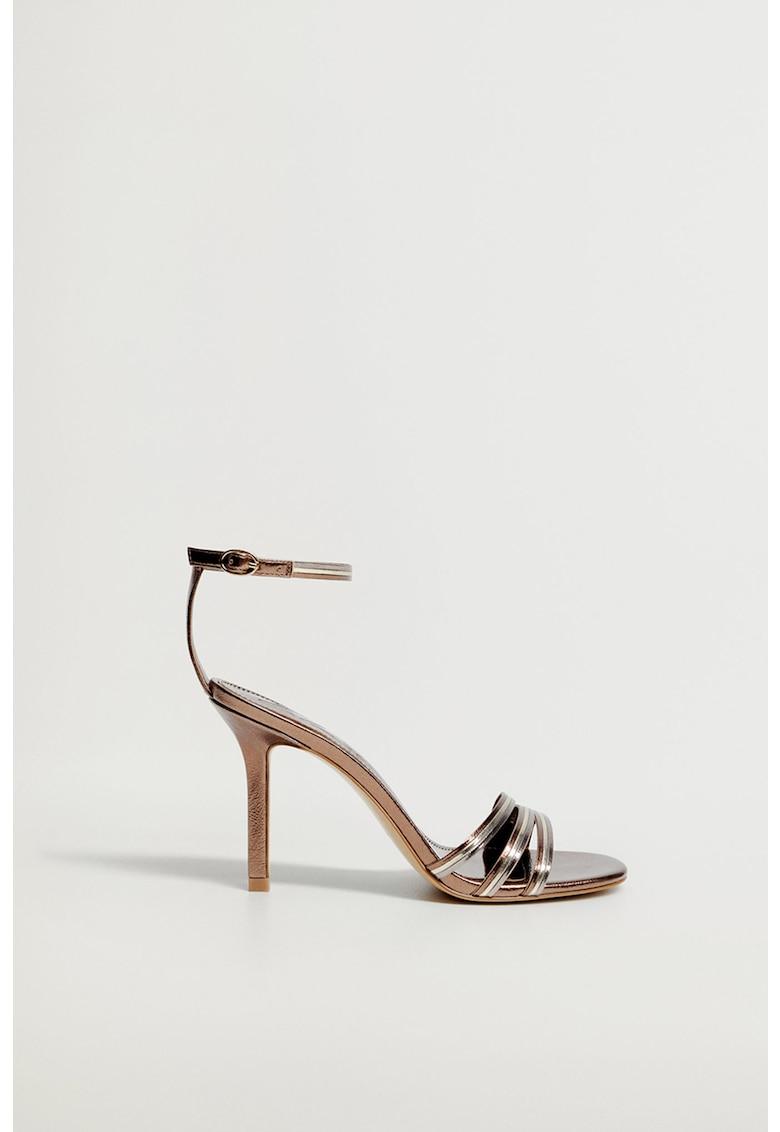 Sandale din piele ecologica cu toc inalt Diana imagine fashiondays.ro