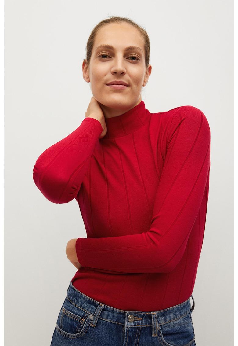 Pulover tricotat fin cu aspect striat Lilo de la Mango