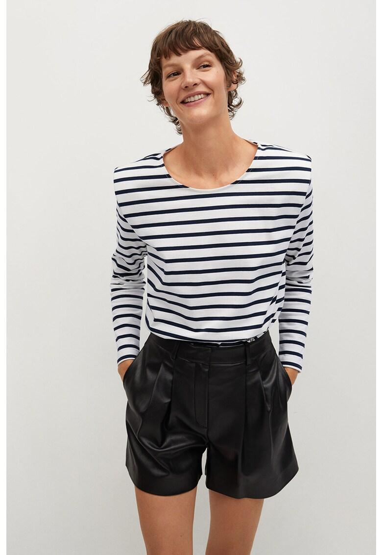 Bluza din bumbac organic cu model in dungi Marini