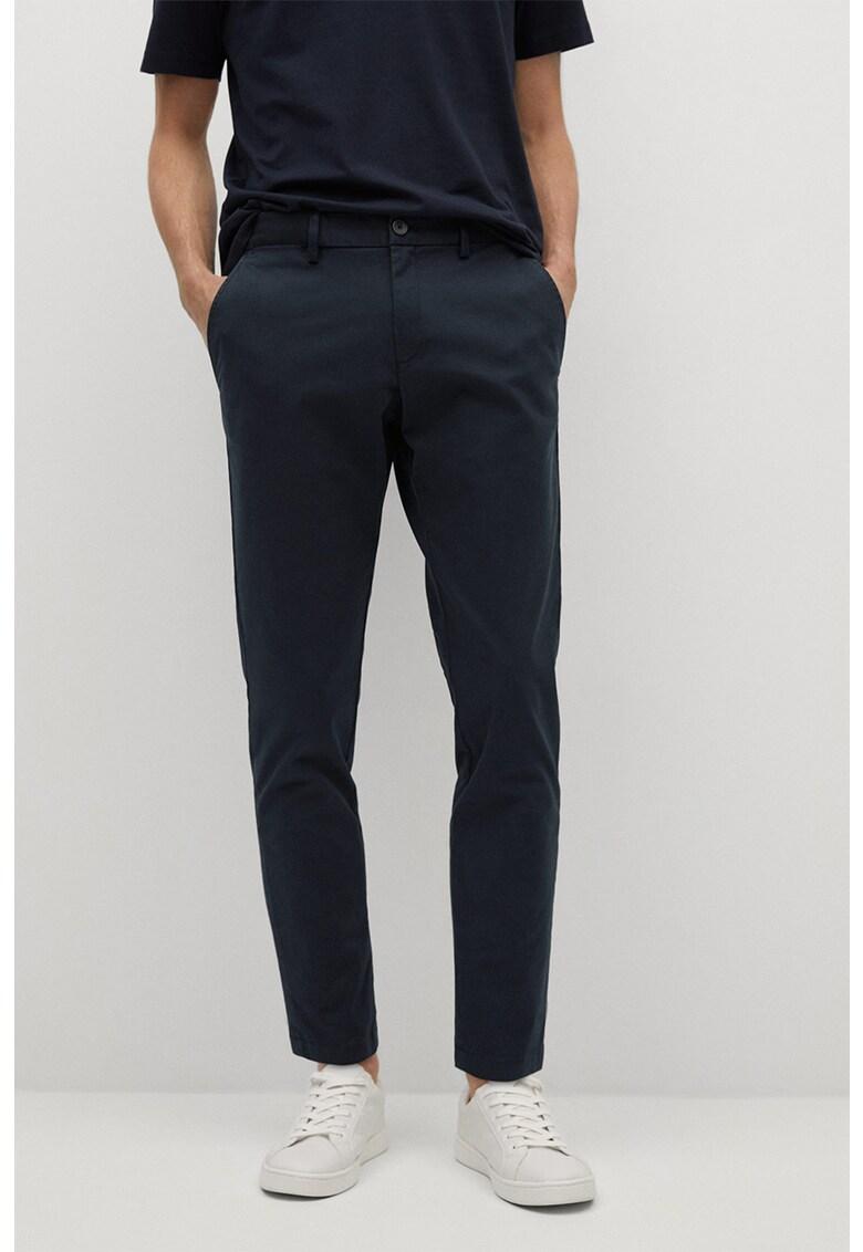 Pantaloni crop chino cu croiala conica Prato imagine