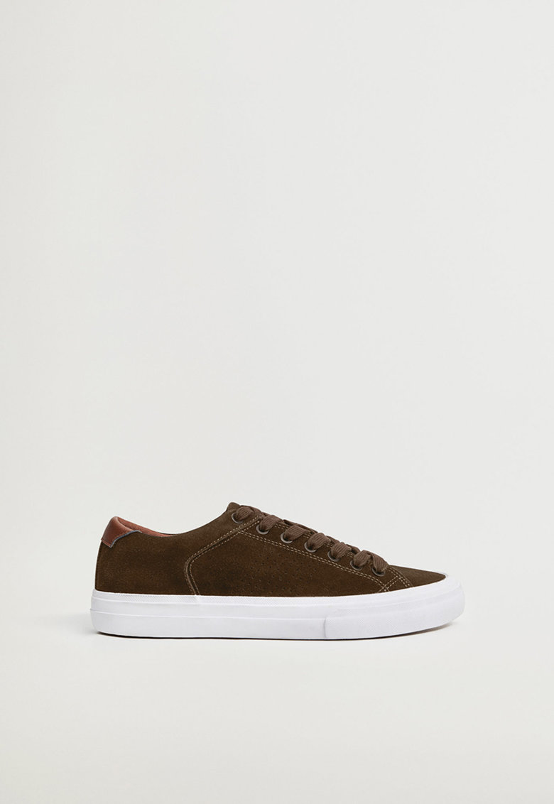 Pantofi sport din piele intoarsa cu detaliu din material sintetic Serra imagine