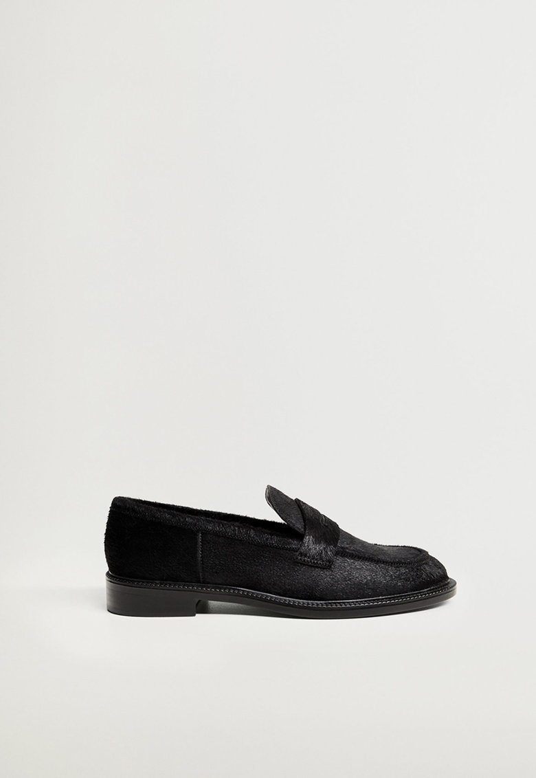 Pantofi loafer din piele cu par scurt imagine