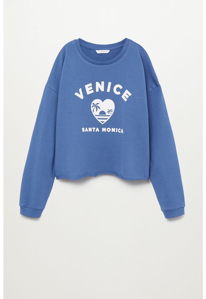 Bluza sport din bumbac organic cu imprimeu text Venice
