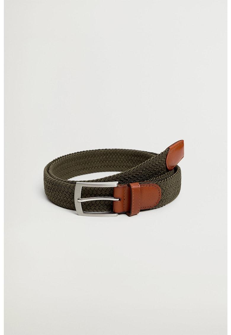 Curea elastica impletita cu garnituri din piele imagine fashiondays.ro
