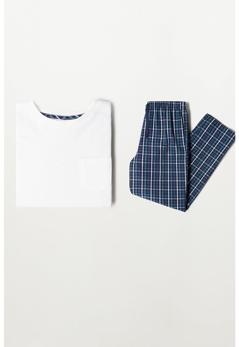 Pijama cu pantaloni in carouri Luis