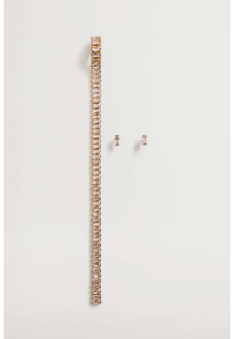 Set de cercei decorati cu zirconia Diana