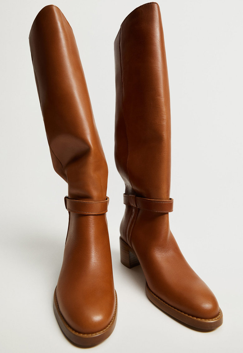 Cizme lungi pana la genunchi din piele Hype imagine promotie