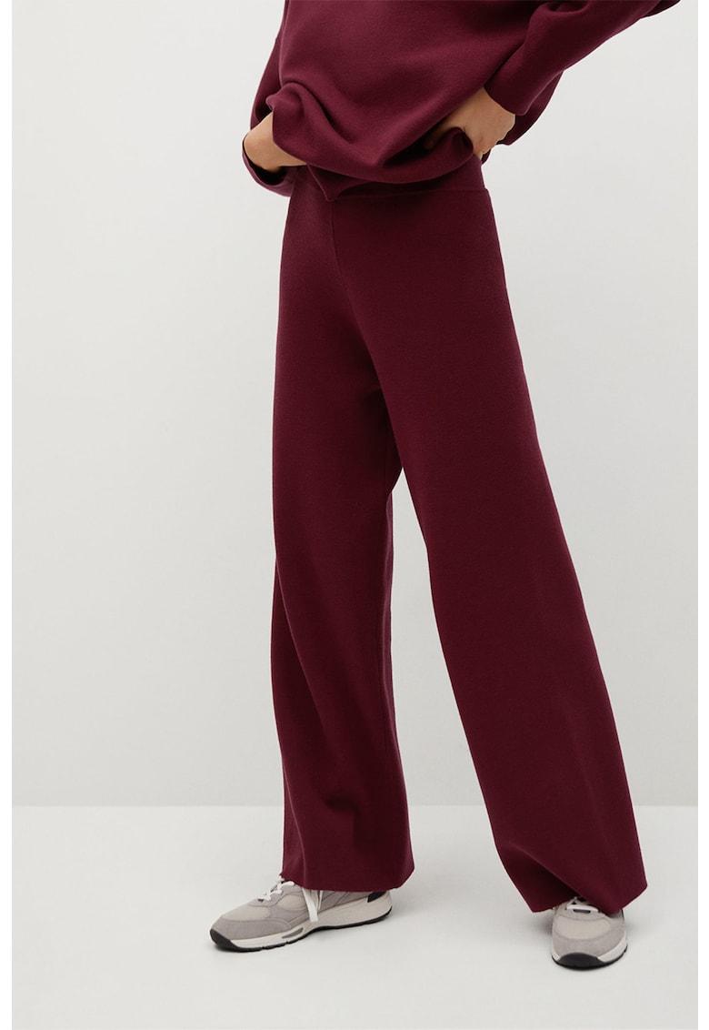 Pantaloni evazati cu aspect de tricot fin Lorca poza fashiondays