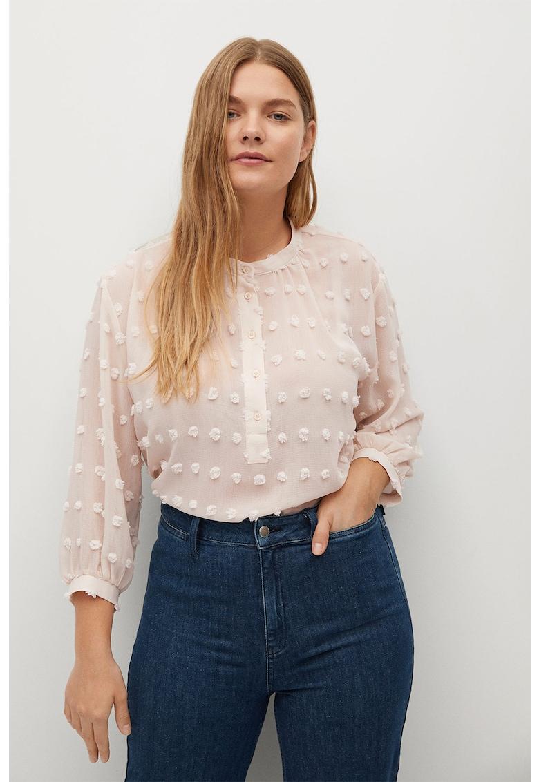 Bluza lejera cu fenta cu nasturi Emma imagine promotie