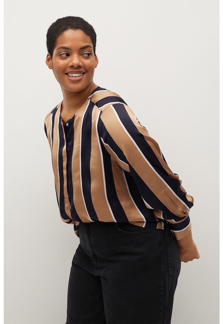 Bluza din satin cu model Stripy imagine promotie