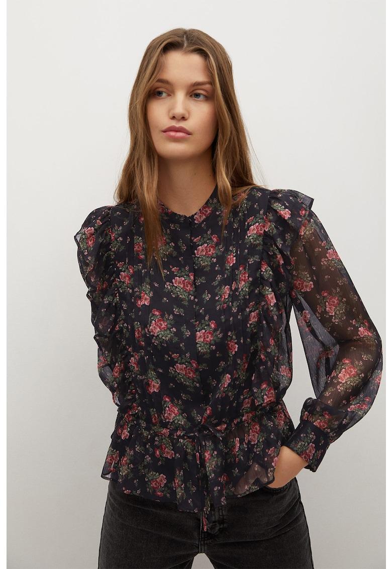 Bluza cu imprimeu floral si volane Maura imagine promotie