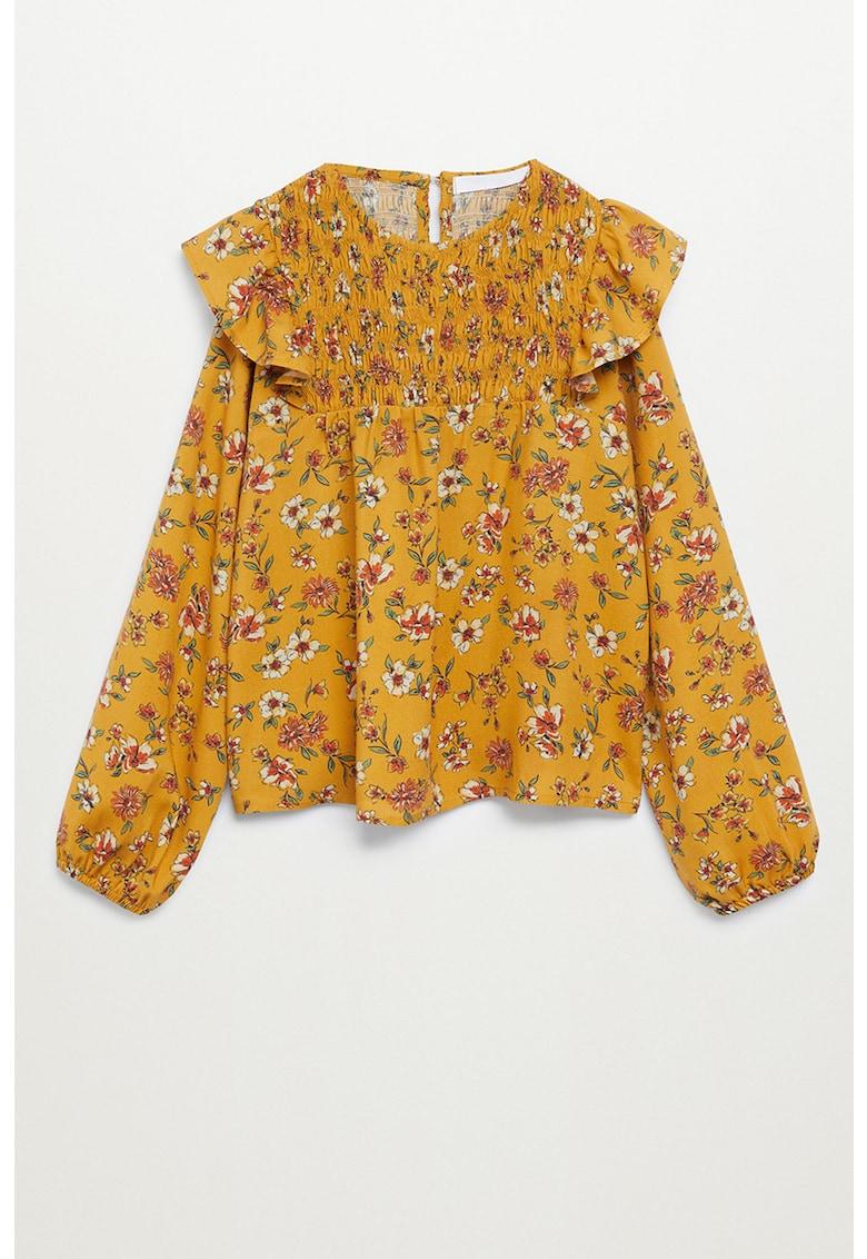 Bluza cu model floral si volane Sunny imagine