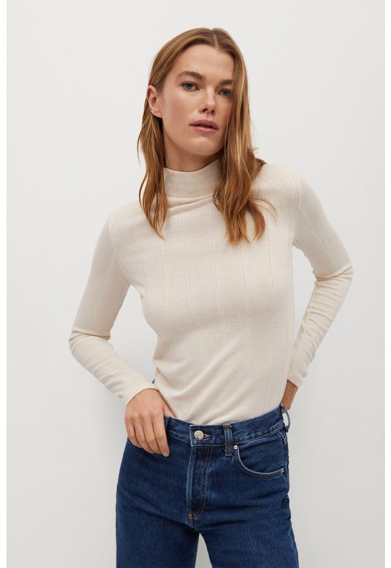 Bluza striata cu guler inalt Lilo imagine promotie