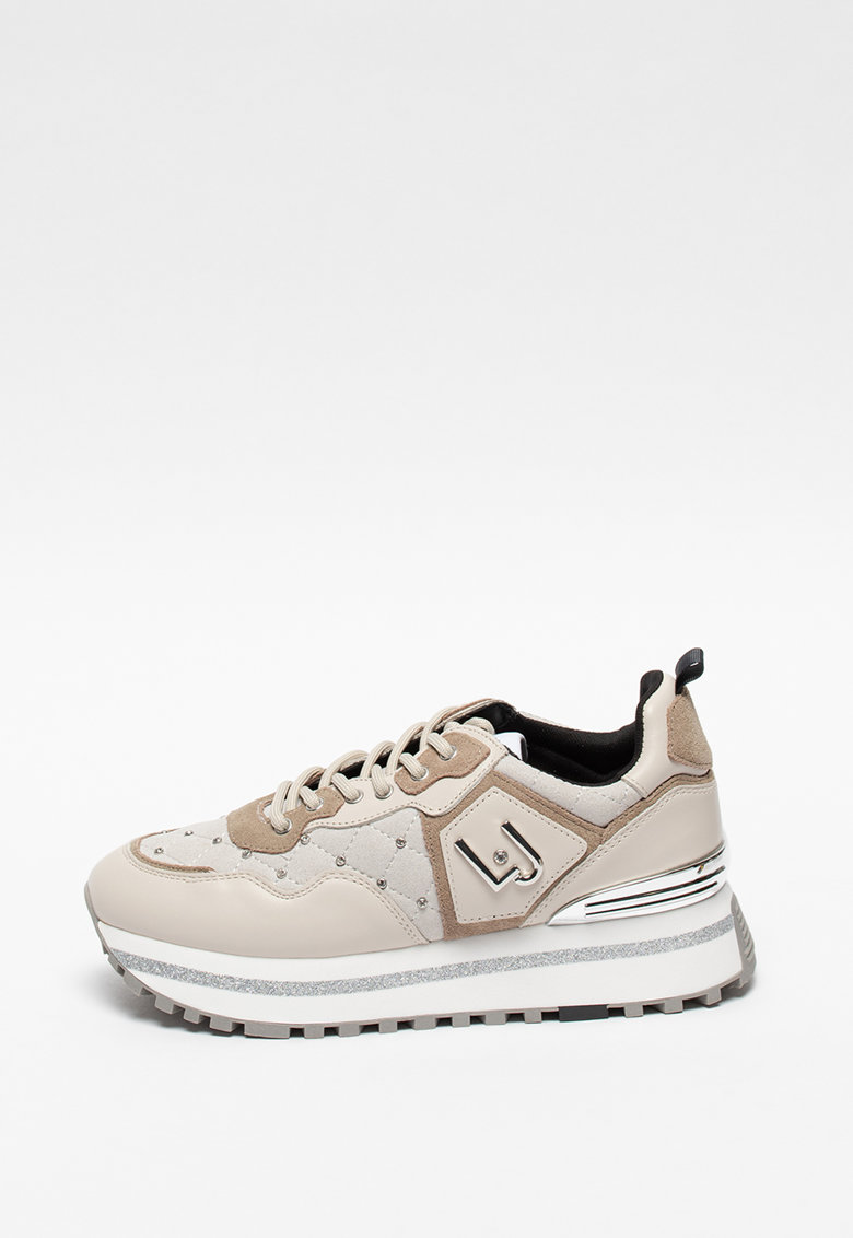 Pantofi sport de piele si material textil cu platforma Wonder Maxi