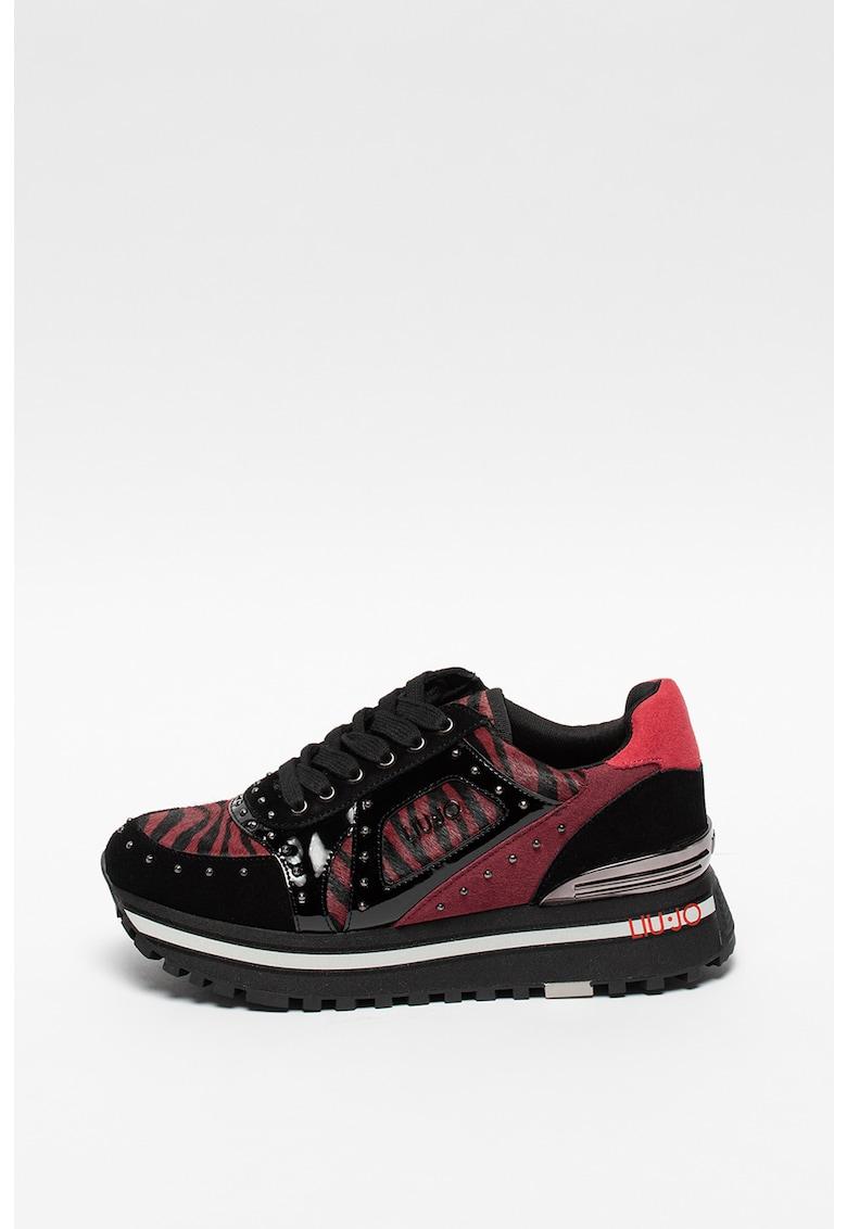 Pantofi sport wedge cu insertii de piele Wonder Maxi