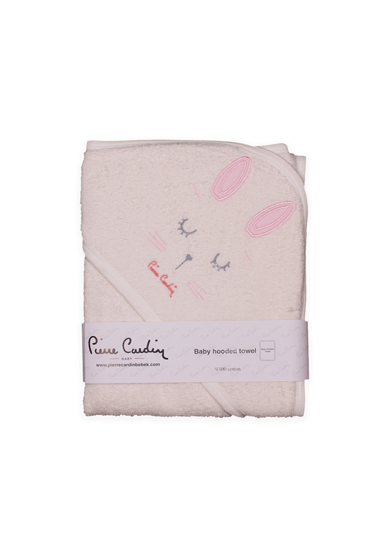 Pierre Cardin Baby Prosop din bumbac cu gluga si model iepure