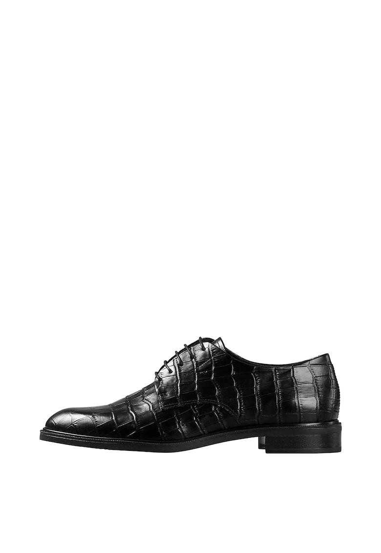 Pantofi derby din piele cu aspect de piele de crocodil de la Vagabond Shoemakers