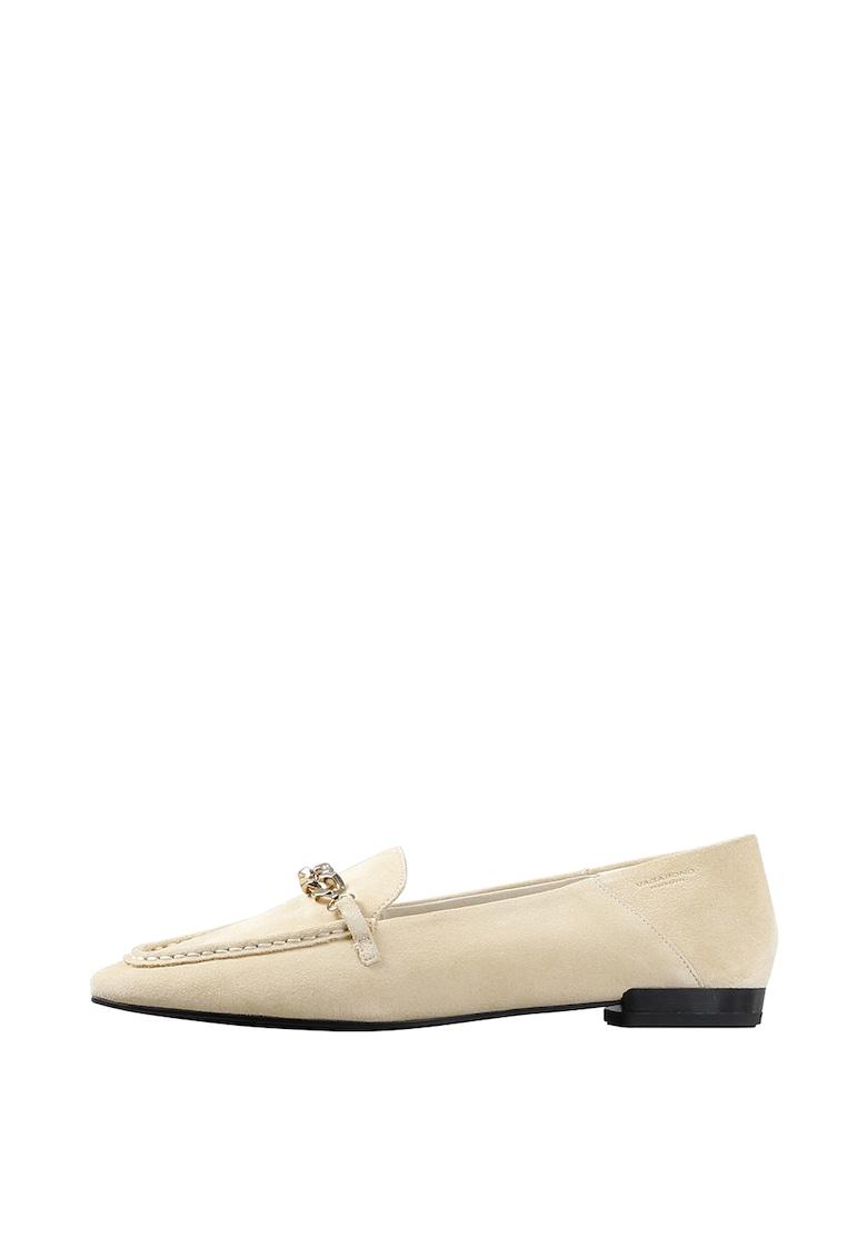 Vagabond Shoemakers Pantofi loafer din piele intoarsa cu lant metalic