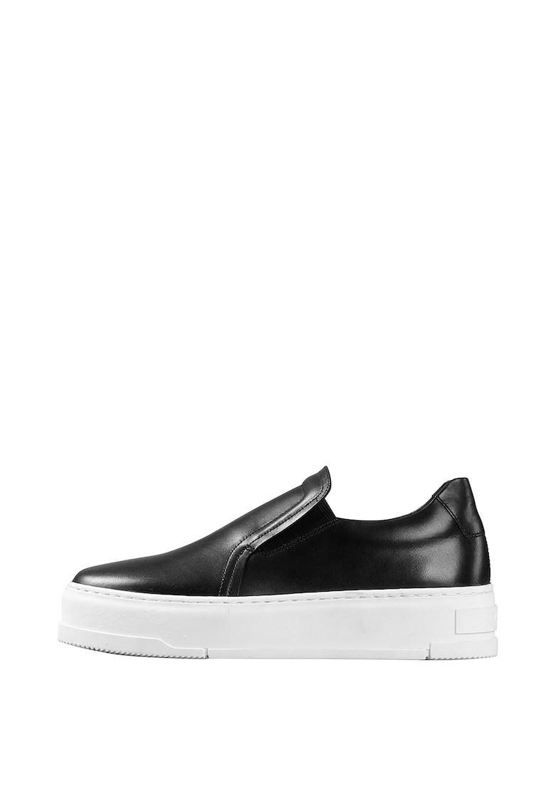 Pantofi sport slip-on din piele imagine