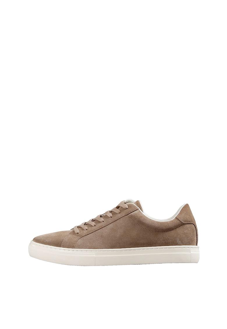 Pantofi sport de piele intoarsa cu varf rotund imagine