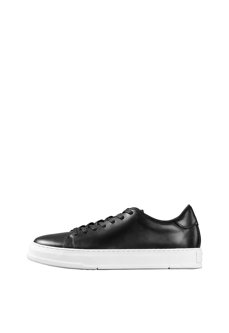 Pantofi sport de piele cu talpa contrastanta imagine