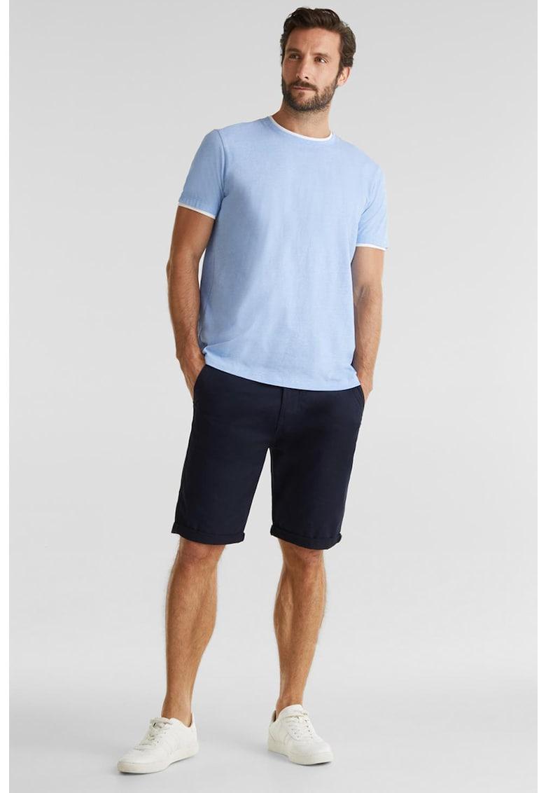 Tricou de bumbac cu detalii contrastante Bărbați imagine