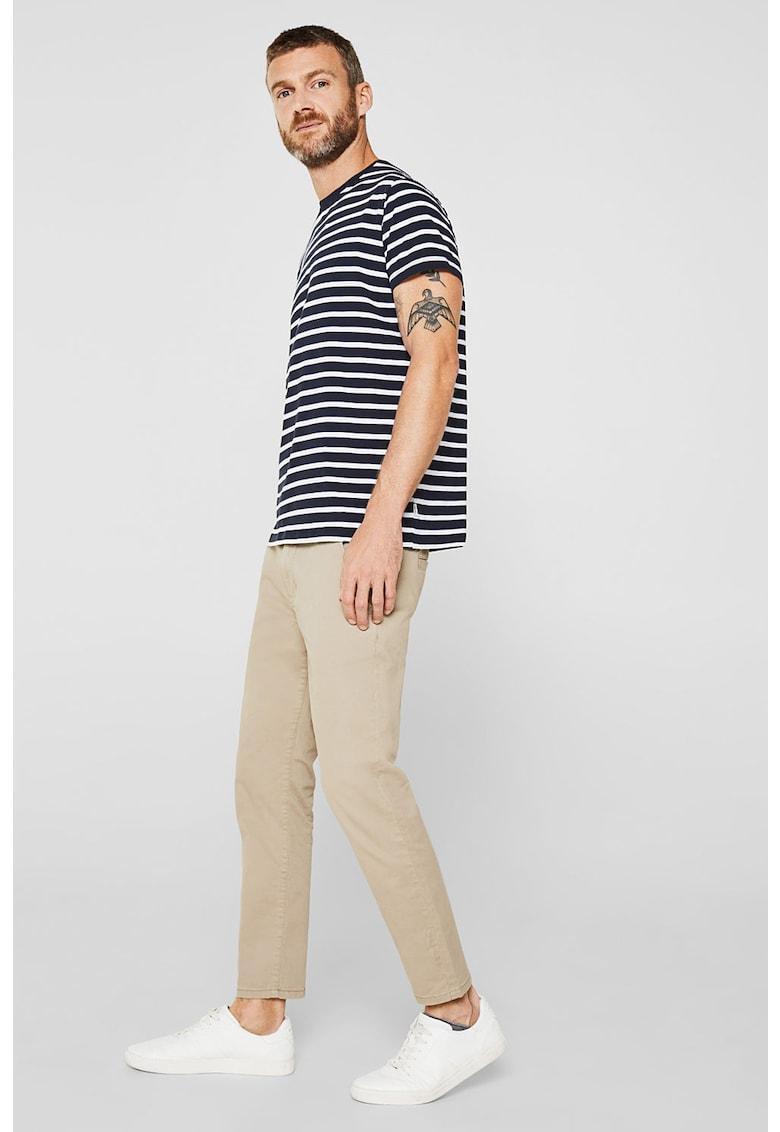 Tricou din bumbac organic cu model in dungi Bărbați imagine