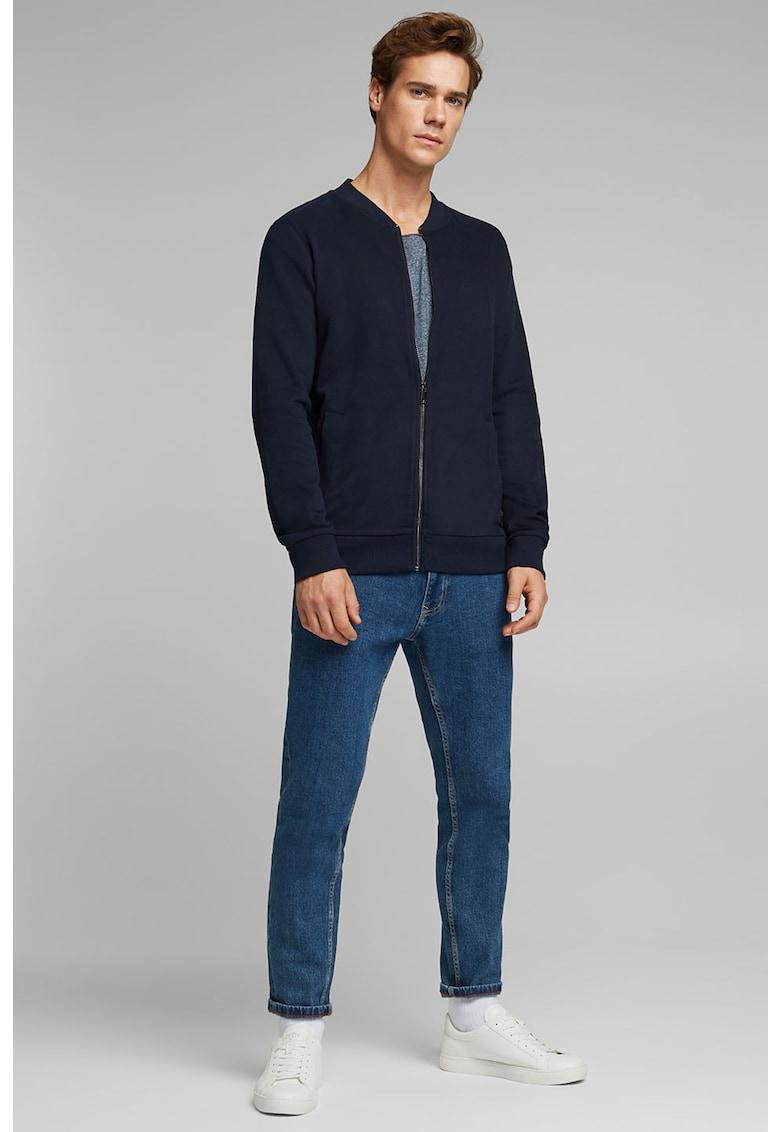 Bluza sport slim fit cu fermoar si buzunare laterale de la EDC by Esprit