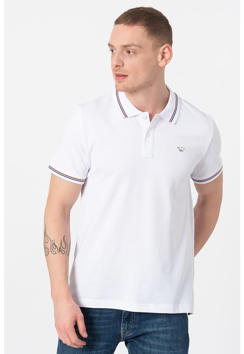 Tricou polo din material pique cu logo discret Pablo Bărbați imagine
