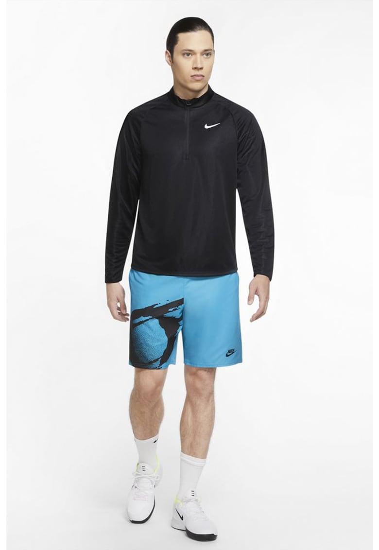Bluza cu fermoar scurt - pentru tenis Court Challenger