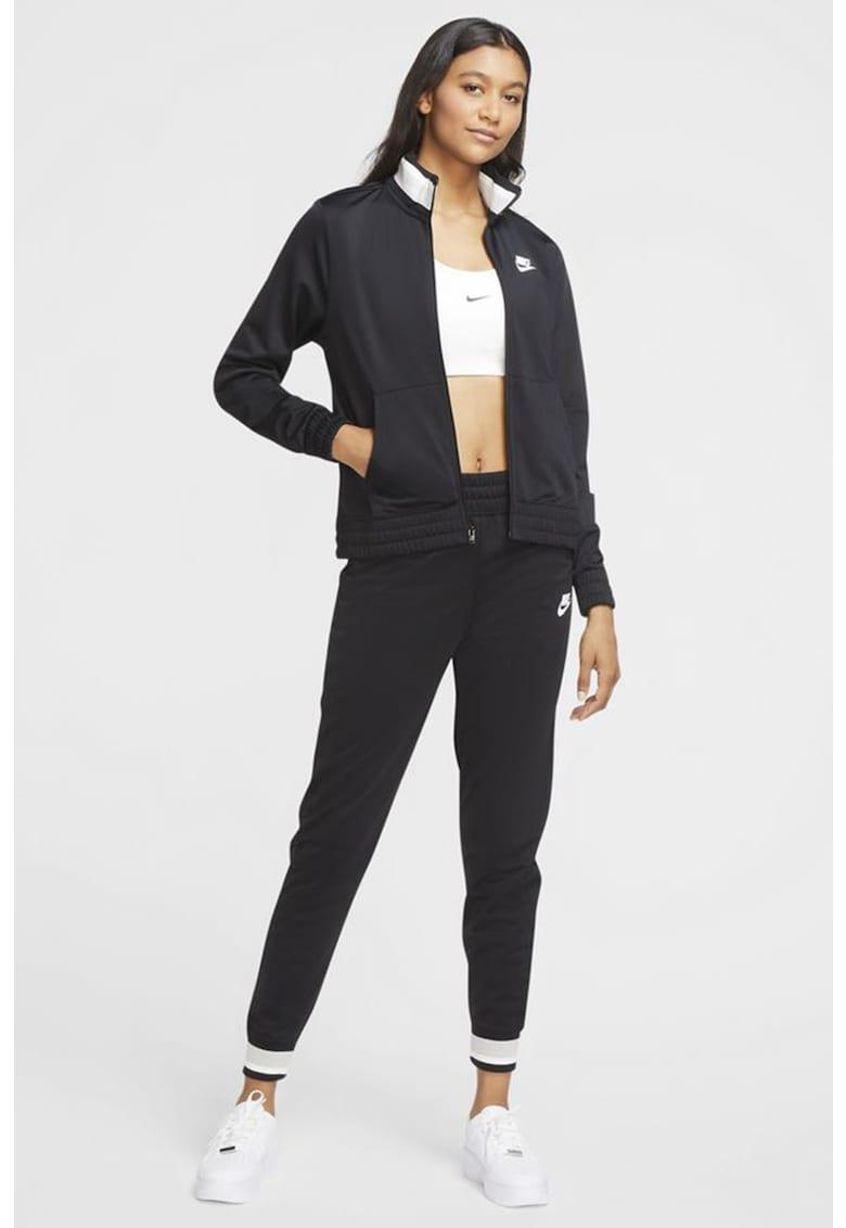 Bluza sport cu fermoar si imprimeu logo imagine