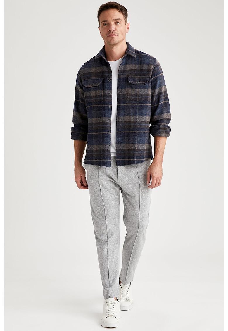 Pantaloni conici cu buzunare laterale fashiondays.ro