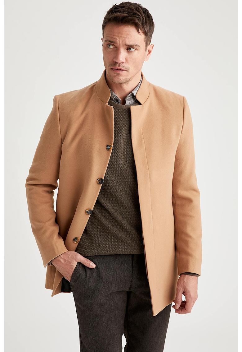 Palton cu revere inversate