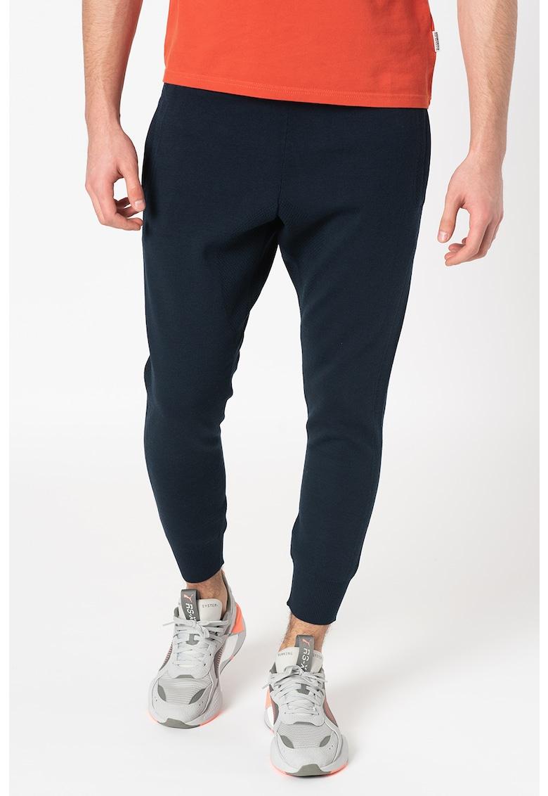 Pantaloni sport crop din amestec de lana