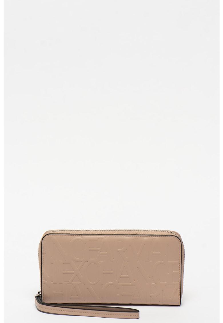 Portofel din piele ecologica cu logo stantat imagine