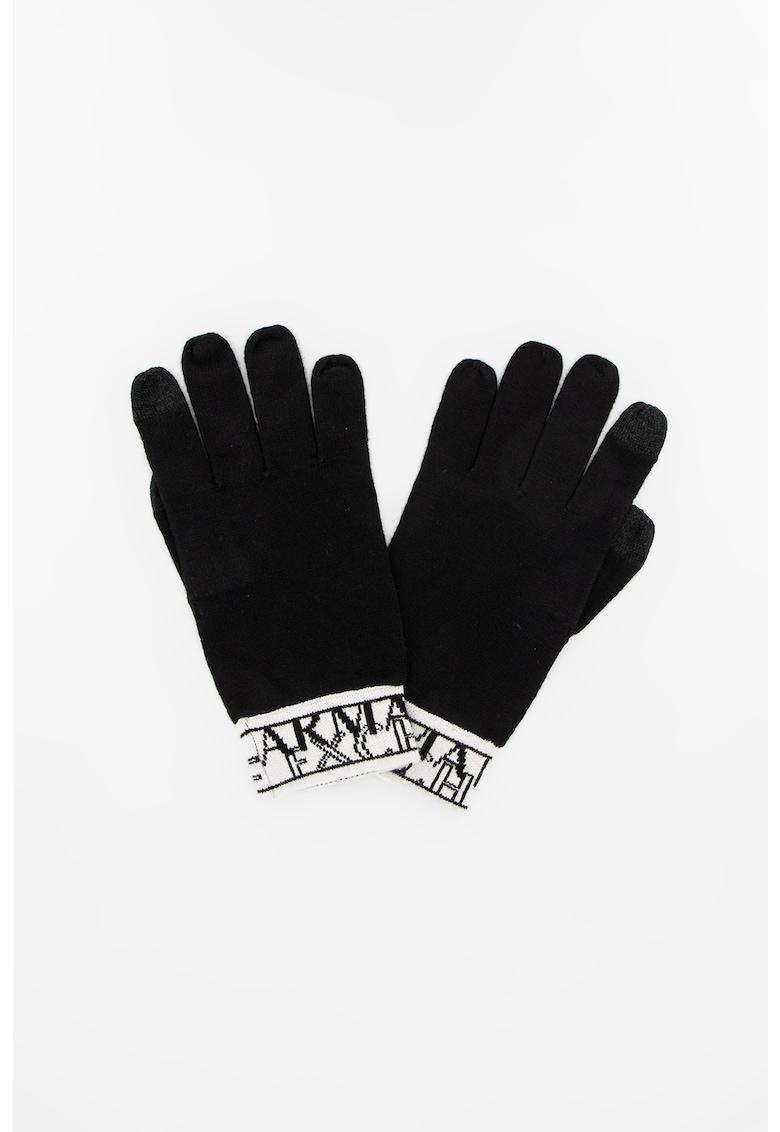 Manusi din tricot cu logo