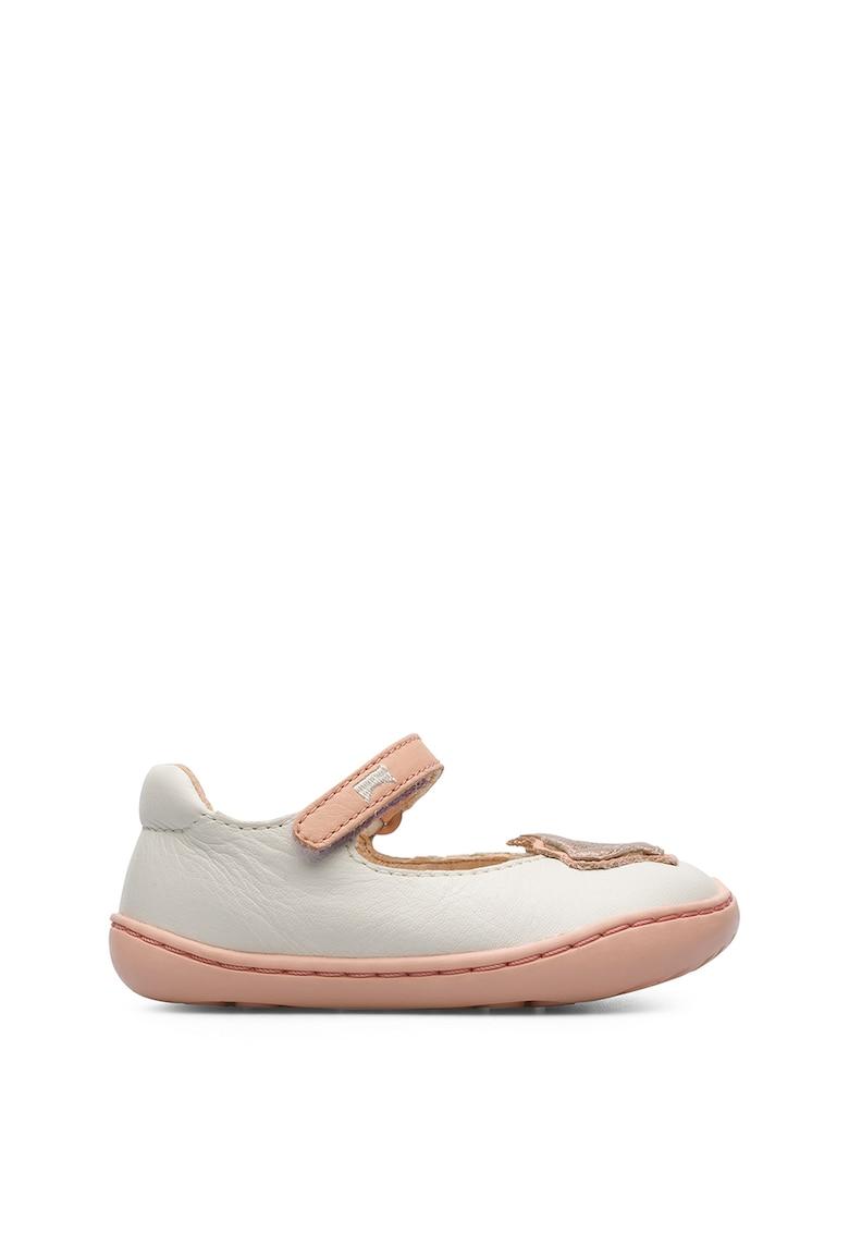 Pantofi Mary Jane din piele cu tematica marina imagine