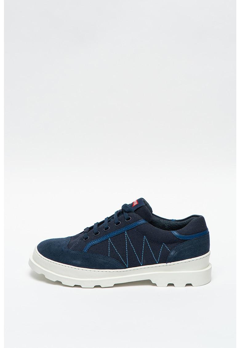Pantofi sport cu insertii din piele intoarsa Brutus