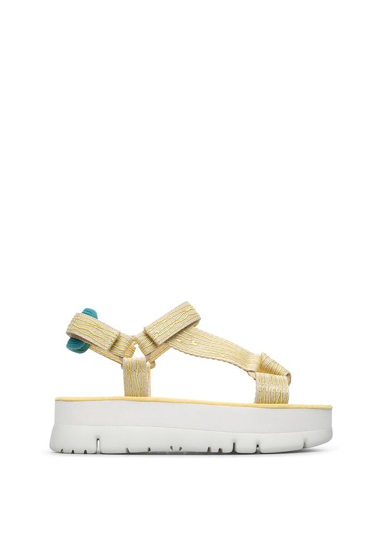 Sandale flatform de material textil Oruga